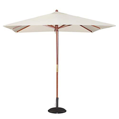 Bolero Gh988Poulie Parasol, carré, 2500mm, crème