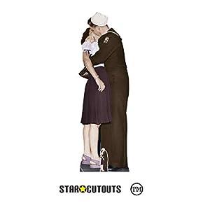 Star Cutouts Ltd- Star Cutouts SC1543 Victory Day Pareja de cartón de tamaño real, 184 cm de alto, 58 cm de ancho, Multicolor