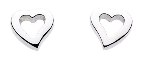 dew-womens-sterling-silver-simple-open-heart-stud-earrings