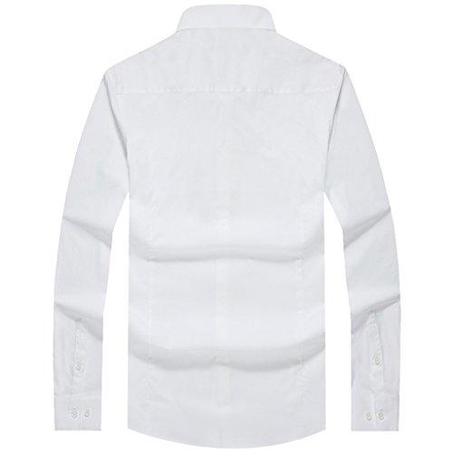 E-artist -  Camicia Casual  - Basic - Con bottoni  - Maniche lunghe  - Uomo White