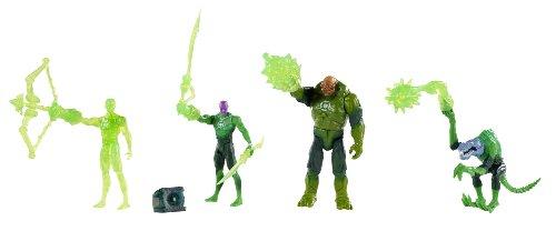 Green Lantern - V9148 - The Power of Will - EXCLUSIVE 4-Pack - Abin Sur, Isamot Kol, Hal Jorden und Kilowog - 10 cm Action Figuren - mit 4 Green Lantern Waffen und Power Ring