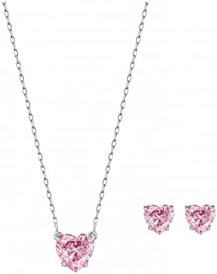 Set Colgante+Pendientes Swarovski 5181005 Mujer Corazón Plateado