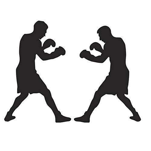 Weaeo Boxen Boxer Kampf Sport Wandaufkleber Wohnzimmer Removable Vinyl Sport Wand Kunst Wandhauptdekor Aufkleber