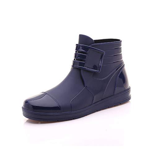 Männer Frauen Regenstiefel PVC Uppers Wasserdichte KnöchelStiefel Unisex Wasser Flache Schuhe