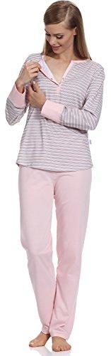 Merry Style Damen Schlafanzug 1187 Rosa-1A