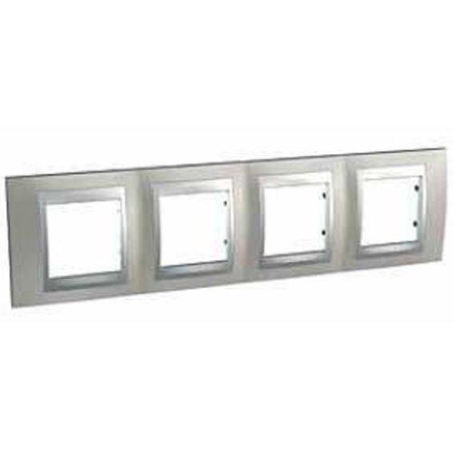 Nickel-matt-rahmen (Schneider Electric u66.008.039-Rahmen Top 4Elemente Nickel matt)