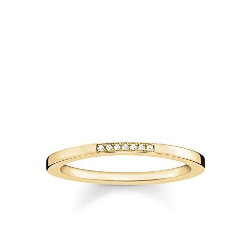 THOMAS SABO Damen-Ring Glam & Soul 925 Sterling Silber 750 gelbgold vergoldet Diamant Pavè Preisvergleich