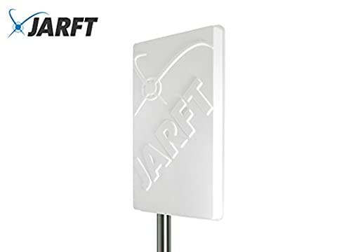 JARFT J800-14-DOMPA | Leistungsstarke 800 MHz LTE / 4G Antenne, 14dBi Leistungsgewinn, Wetterfest, inklusive 2.5m TWIN-Kabel - Richtantenne passend zu Speedport LTE / LTE II / Hybrid, Speedbox LTE / LTE II / LTE III, Easybox 904 LTE / B1000 / B2000 / B3000 / B4000, O2 LTE Router, FritzBox LTE- Router, Huawei B390 / B593 / B890 / E5186, D-Link DWR-921, Teltonika RUT550 / RUT950