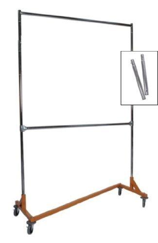 Commercial Garment Rack (Extended Height Nesting Z-Rack Rolling Garment Rack, Commercial Grade by Metropolitan Display)