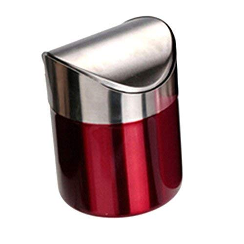 Starworld Edelstahl-Mülleimer, 1,5l, Mini-Abfalleimer mit Schwingdeckel für Küche und...