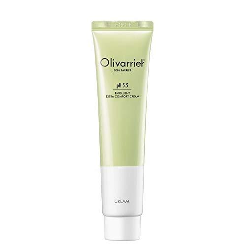 Olivarrier Emollient Extra-Komfort-Creme 2,53 fl.oz.Unscented Beruhigende Gesichtscreme mit 5% Panthenol 20% Bio-Sheabutter Hautschutz ohne Greasy Feuchtigkeitsspendende für alle Hauttypen verstärken. - Beruhigendes Emollient