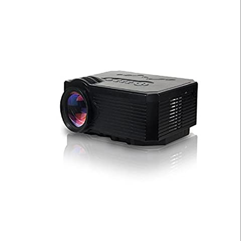 Aodeneng® Multimédia Portable Mini Projecteur LED 500 Lumens 640 * 480 résolution Pour Accueil / Cinéma / Théâtre Projecteurs Avec le soutien de support USB / SD / VGA / HDMI / AV / TV (umi-168-Noire)