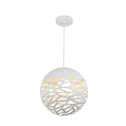 Hütte Ziehen (Modern Creative Round White Kronleuchter, Einfache Single Head Decke LIght für Wohnzimmer, Schlafzimmer, Restaurant)
