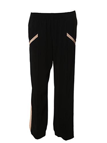 agnona-femme-uf2037911oy43-noir-rose-viscose-pantalon