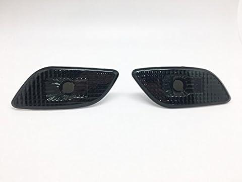 (2) fumée objectif Side Marker indicateurs Réflecteur pour 02–03Subaru Impreza WRX STI