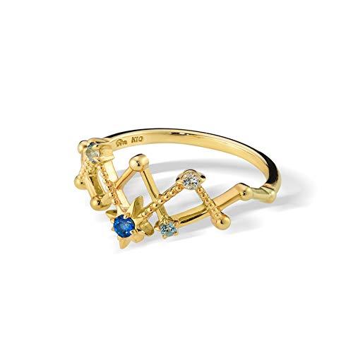 Damen 925 Sterling Silber Ring, Star Blue Crystal Mesh Hollow Design Mode Die Einstellung Paar Finger Ring Damen Öffnen Können, Geschenk Jahrestag Hochzeit Verlobung Versprechen Braut Schmuck