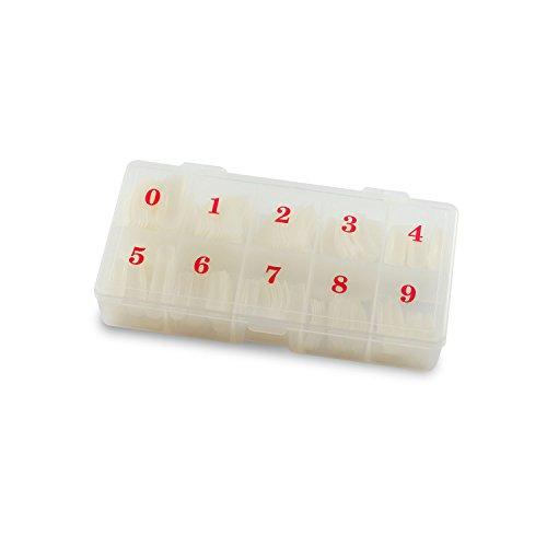 Tips ongles griffe de forme boîte de rangement Lot de 250