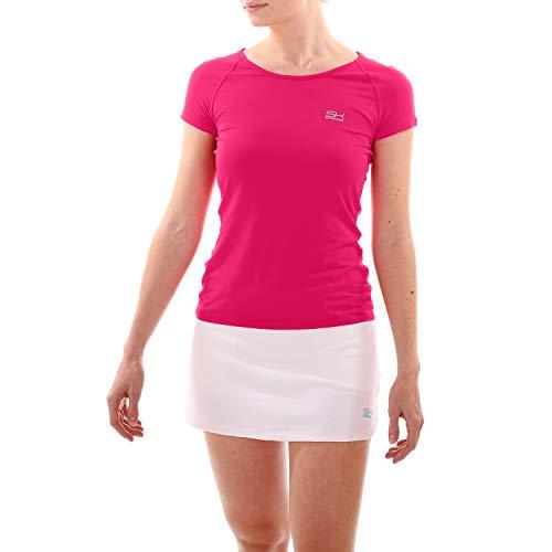 Sportkind Mädchen & Damen Tennis/Fitness/Sport T-Shirt, pink, Gr. 152