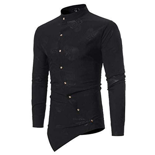 Ujunaor camicie uomo slim fitmaglietta da uomo maglietta da donna a maniche lunghe con scollo a v e maniche lunghe color autunno(medium,nero)