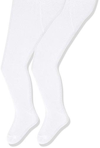 Sterntaler Doppelpack Strumpfhose für Babys, Alter: 0-2 Monate, Größe: 56, Weiß - Weiße Hosen-socken