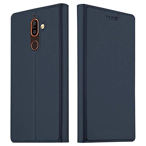 MTP Products MTP Products Nokia 7 Plus Slim Flip Case with Card Slot - Dark Blue