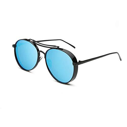 08 Brillen (BYCSD Sonnenbrille Unisex Runde Retro Sonnenbrille Paar Brille, Breite/Schmale Kante Optional (Farbe : 08))