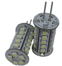 6 x 12v G4 LED BULBS / LAMPS IN COOL WHITE ** SUPER BRIGHT WITH 30 x 3528 SMD LED CHIPS - IDEAL 20W HALOGEN CAPSULE REPLACEMENTS **