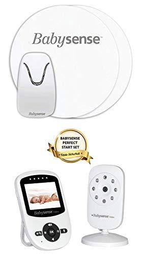 BABYSENSE Babyphone mit Sensormatten und Kamera: Babysene Video Babyphone + Bewegung &...
