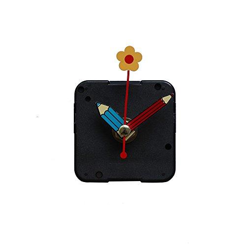 Elecenty Wanduhr Leise Bewegung Lange Spindel Quarz Wecker Bewegung Uhr Bewegung Mechanismus Hände DIY Ersatzteile mit Metallhaken -