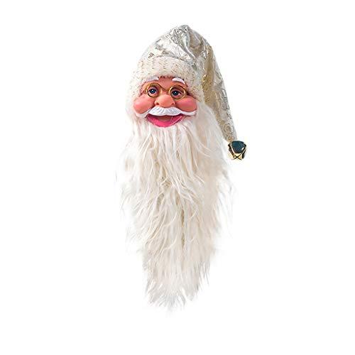 Daygeve Zuhause Party Deko, Anatomische Tracing, Medizinische Lehre, Halloween Dekoration Statue,Netter Weihnachtsmann-Rotwein-Flaschen-Mund-Dekorations-Weihnachtsverzierungs-Ausgangsdekor (Wein Flaschen Damen Kleid Kostüm)