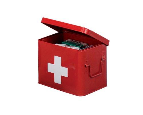 zeller-18115-cassetta-pronto-soccorso-in-metallo-215x16x16-cm-colore-rosso