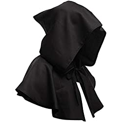 Medieval Halloween Cloak Witchcraft Pagan Cosplay Hooded Cape Vampire Witch Wizard Cowl Hat Party Costume