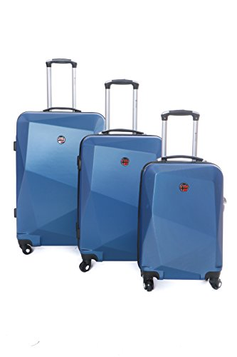Geographical Norway Spotlight Koffer Trolley Set dunkelblau