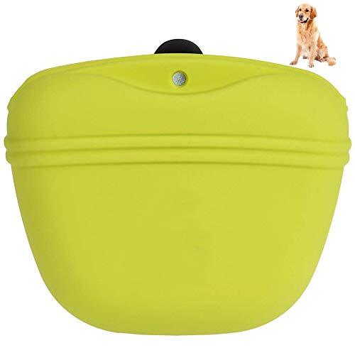 WESEEDOO Hund Snack Tasche Haustier Behandeln Beutel Hund Ausbildung Taille Essen Reise Tasche Silikon Behandeln Halter Tragbar Haustier Spender Mit Magnetisch Schließen