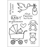 Efco Stempel Clear Baby transparent, A7/ 74 x 105 mm, 9-teilig