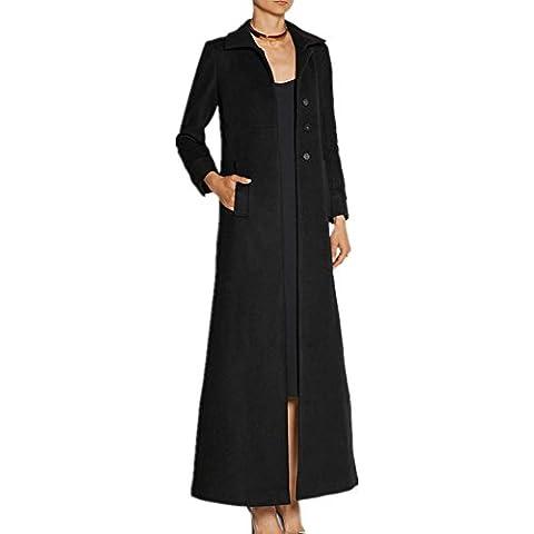 ZZHH abrigo de cachemir de un solo pecho abrigo de lana larga sección de las mujeres . xl