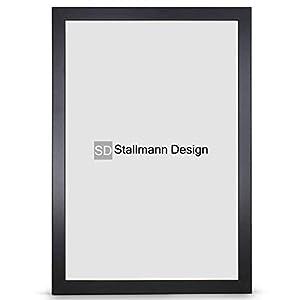 Stallmann Design Bilderrahmen New Modern 50x70 Puzzleformat cm schwarz Rahmen Fuer Dina 4 und 60 andere Formate Fotorahmen Wechselrahmen aus Holz MDF mehrere Farben wählbar Frame für Foto oder Bilder