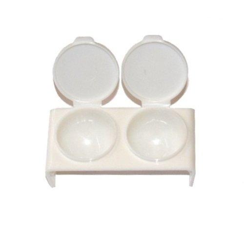 Double Dappen Dish, blanc pour acrylique et gel