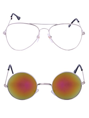 Amour-propre AmourPropre Multicolor UV Protected Unisex sunglasses Pack of 2_(AM_CMB_LP_2629)