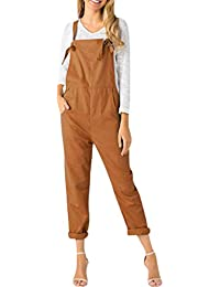 1049cb214479 MAGIMODAC Women s Strappy Dungarees Jumpsuits Overalls Casual Sleeveless Playsuit  Trousers Rompers with Pockets Size 6 8