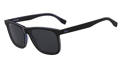 Lacoste Herren L875SP 001 56 Sonnenbrille, Black/White/Blue,