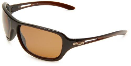 Revo Men's Highside L RE4049-05 Polarized Rectangular Sunglasses,Rootbeer Frame/Bronze Lens,one size
