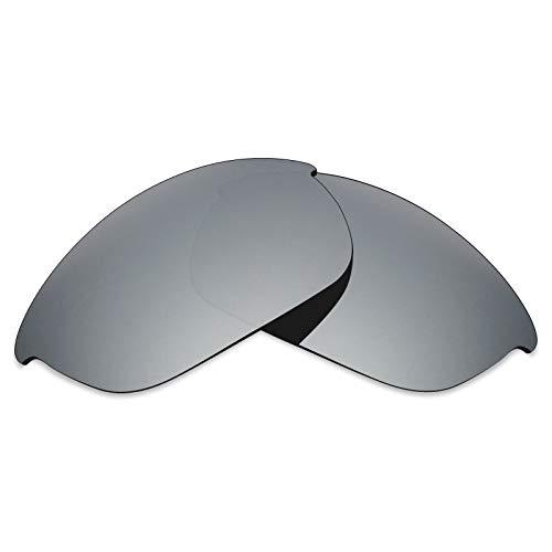 Mryok UV400 Ersatzgläser für Oakley Half Jacket 2.0- Silver Titanium