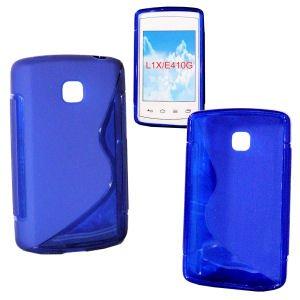 Blau L1 Case Lg Handy (handy-point Gummihülle Hülle für LG Optimus L1 II, Blau, Silikonhülle, Gummi, Silikon, TPU, Schutzhülle, Schutz, Handyhülle, Handyschale)