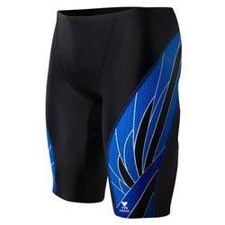 TYR Phoenix Splice männliche Badeshorts (UK 32, Schwarz / Blau) (Tyr Swimwear Männer)