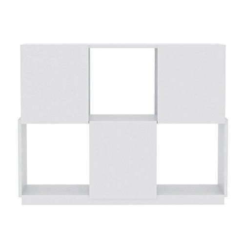 Paris Prix - Temahome - Buffet Branch 3x2 Blanc Mat