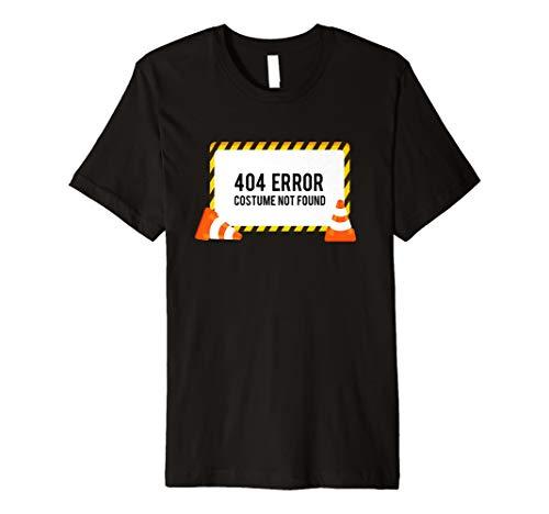 404Fehler Kostüm nicht gefunden T-Shirt Funny Halloween Top Tee