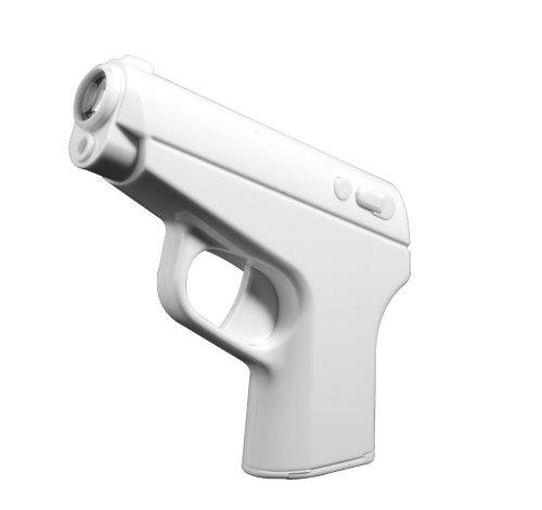 Thumbs up SECAGTALCLK Pistolen Projektions-Wecker, Kunststoff, weiß, 13.1 x 10.6 x 2.3 cm (Wecker Projektion Uhr)