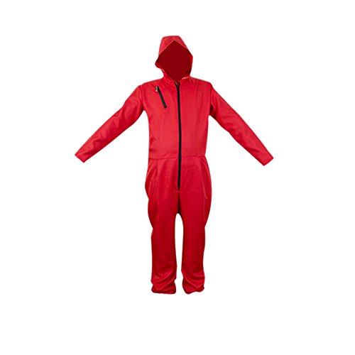 ape Maske Cosplay Bekleidung Pullover Kostüme Body Suit Rot Anzug Halloween Overall Jumpsuit (Overall, Medium) (Rot Body Kostüm)