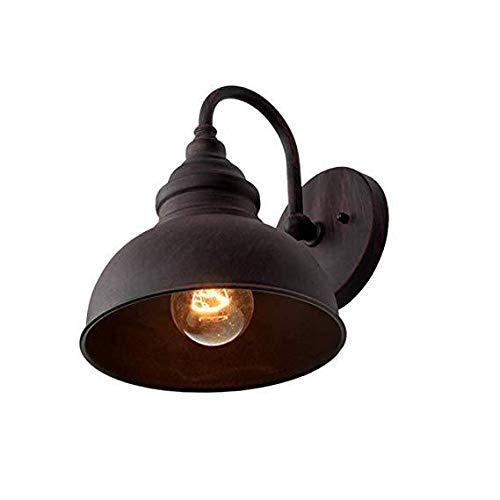 Pouybie Lámpara de Pared Aplique E27 Iluminación de Pared Lámpara Industrial para Pasillo Patio Exterior...